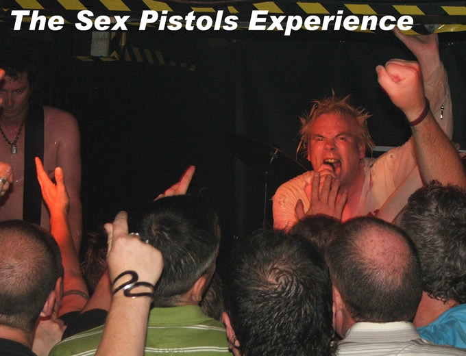 This brilliant tribute band are booked til the end of the year, including a month in America - click here to visit The Sex Pistols Experience on-line